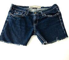 Hollister Women's Junior's Cut Off Denim Jean Shorts Size 3 W 26 Distressed