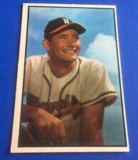 1953 Bowman Color Joe Adcock #151 Milwaukee Braves High # Baseball Card  VG+
