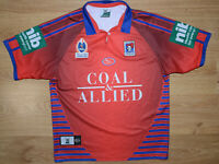 NRL NEWCASTLE KNIGHTS RUGBY LEAGUE SHIRT JERSEY ISC SIZE L ADULT