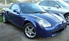 Toyota MR2 - Blue Soft Top Hood in Mohair Original Style With Heated Glass