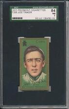 Joe Tinker 1911 T205 Piedemont Cigarettes SGC 84 7 !!