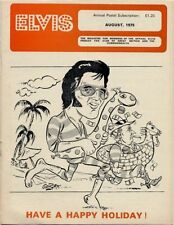 Elvis Presley Fan Club Magazine August 1975