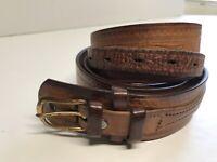 Vogel OF TX Frontier Belt BROWN 40 Leather Tooled
