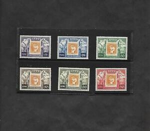 Philippines Set- Scott 605-7 & C74-6- Stamp-on-Stamp Topicals- MLH