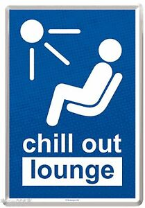 Nostalgic Art Metal Postcard 3 7/8x5 1/2in Chill Out Lounge Ruhezone Rest Room