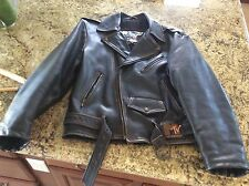 RARE - MTV - BELTED LEATHER MOTORCYCLE JACKET - VERY DARK BROWN - A BEAUTY - 38