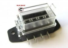 12 volt Standard Blade Fuse Holder Box Car 4 fuses 10 amp with waterproof lid
