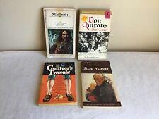 Vintage Mixed Lot Of 4 Paperback Classics Gullivers Travel Macbeth Don Quixote