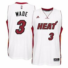 90d8f781d5b 2013 Dwyane Wade adidas Miami Heat NBA Finals Home White Swingman Jersey  Men s L