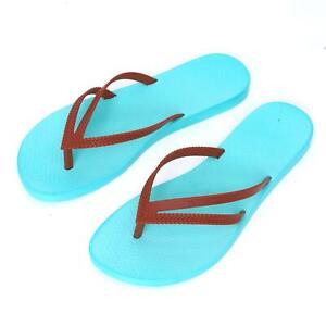 New Ipanema Women Holiday flipflops Rubber Sandals Brazil Beach Aqua Brown Strap