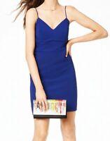 City Studio Dress Indigo Blue Size 13 Junior Sheath V-Neck Stretch $59 #058