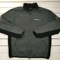 Nautica Competion Fleece Jacket Mens Small Gray Full Zip Lightweight SW00