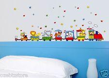 Cartoon Train Animal Circus Stars Removable Wall Sticker Boy Kids Nursery