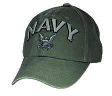 U.S. Navy Hat / USN OD Green Baseball Cap 6476