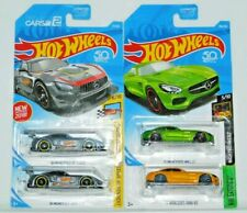 HOT WHEELS LOT OF 4 MERCEDES BENZ AMG GT