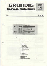 Grundig Service Anleitung Manual MCF 100   B1001