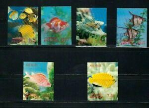 Bhutan 1969 , 3-d , Fish  ,  unusual