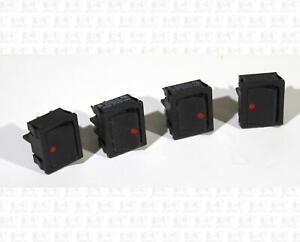 Lot Of 4 C&K DPST On-Off Rocker Power Switches