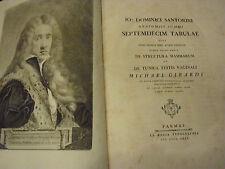 SEPTEMDECIM TABULAE QUAS NUNC PRIMUN EDIT ATQUE...SANTORINI, Giovanni D. 1775
