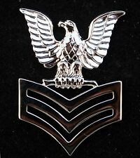 FIRST CLASS PETTY OFFICER PO1 1ST REGULATION SILVER HAT PIN US NAVY E-6 SAILOR