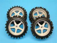 4x   1:6 Super Grip Noppen Reifen für Carbon Fighter/Breaker/Racer/Desert Truck