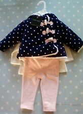Baby girl outfit age 3-6 months. By Cynthia Rowley. Coat, trousers and top. BNWT