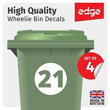 4 X WHEELIE BIN NUMBERS CUSTOM HOUSE NUMBER VINYL GRAPHIC STICKERS DECAL #WB3