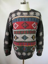 F5114 Men's Woolrich Pull-Over 100% Wool Nordic Norwegian Sweater Size L