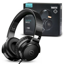 Yellowprice Wired Headphones Over Ear Headset w/ Microphone Stereo Bass Earphone