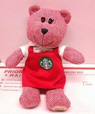 Starbucks Christmas 2016 Holiday Bearista Teddy Bear Doll Plush Red Apron