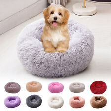 S-L Pet Dog Cat Calming Beds Comfy Shag Warm Fluffy Bed Nest Puppy Cushion Mat