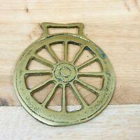 Vintage Horse Brass Cartwheel Design