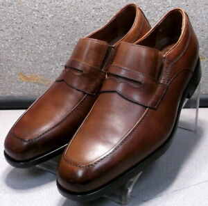 152700 MS50 Men's Shoes Size 10 M Tan Leather Slip On Johnston & Murphy