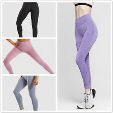 Seamless Women Yoga Pants High Waist Leggings Workout Tummy Control Gym Trouser
