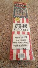 2x3 2'x3' USA American 50 Star Flag Aluminum Pole Kit Set