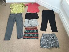 8 x ladies clothes bundle. Shorts/tops/skirts.Forever 21,Topshop,Jack Wills.UK10