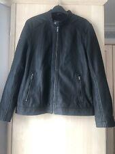 "Superdry Hero Light Leather Racer Jacket-Black  Size L (chest 40"") RRP £199.99"