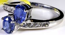 Himalayan Kyanite Ring Platinum Overlay Sterling Silver (Size 7.5) TGW 1.77 Cts
