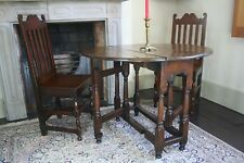 Queen Anne Gate-Leg Table Small 1710 Oak Diminutive Occasional Gateleg 18th