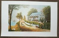 """Vintage Print """"Home on the Mississippi River"""" By Anonymous 22x14"""""""