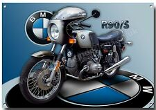 BMW R90/S SILVER SMOKE MOTORCYCLE METAL SIGN,1970'S BMW.VINTAGE BMW MOTORCYCLES