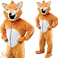 Deluxe Adult Fox Big Head Mascot Fancy Dress Costume Animal Fairytale Outfit