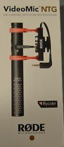 Rode VideoMic NTG Camera Mount Shotgun Microphone - NEW AND SEALED