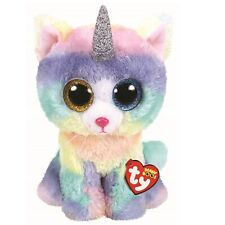 Ty Beanie Boos 36454 Heather The Rainbow Cat With Horn Boo Medium