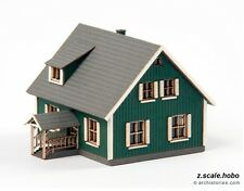 "Archistories Z Scale 404111 Small House ""Johannson"" Building Kit *NEW $0 SHIP"