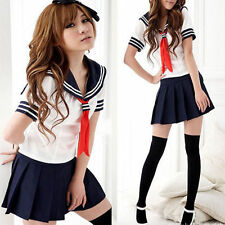 Student Girl Sailor Fancy Dress Uniform Cosplay Costume Japanese School Outfit