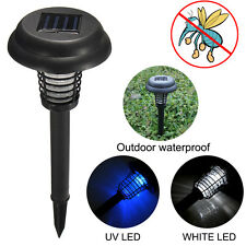 Solar Insect Zappers Garden Light UV Mosquito Killer Bug LED Lamp Insect Trap