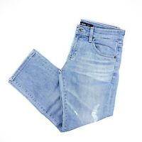 Big Star Womens Joey Slouchy Fit Cropped Jeans Sz 25 Light Wash