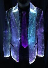 LED Fiber Optic Light up Costume Jackets Blazers Glow in the Dark Party Clothes