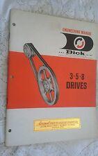 VINTAGE R. & J. DICK  Industrial Engineering Manual Brochure 3-5-8 Drives